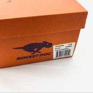 Rocket Dog Shoes - Rocket Dog Crush Black Webbing Flip Flops Size 9